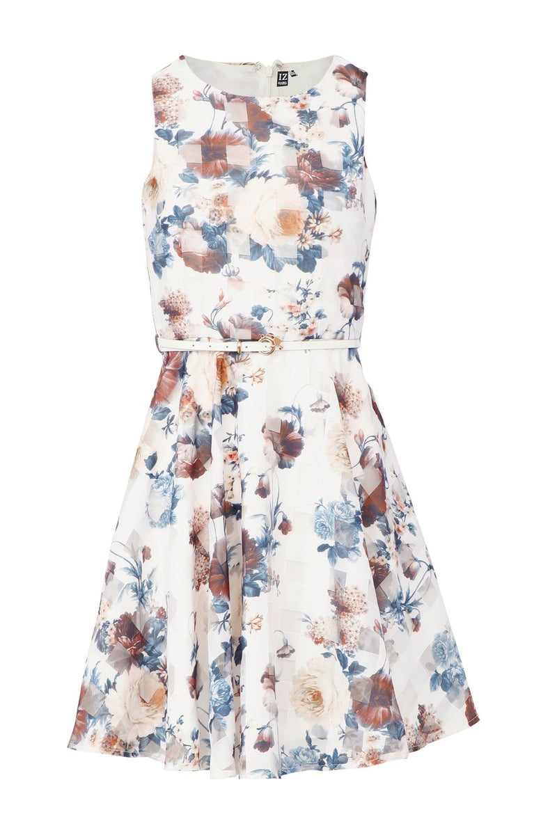 | Vintage Floral Tea Dress | Izabel London