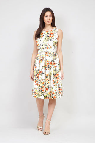 Baroque Print Shift Dress