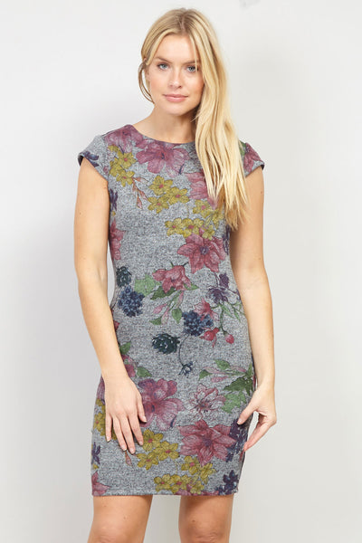 Floral Jersey Dress - Izabel London