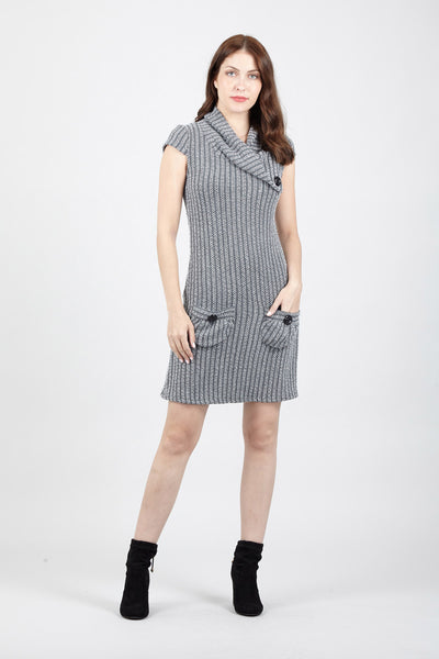 Striped Tunic Dress - Izabel London