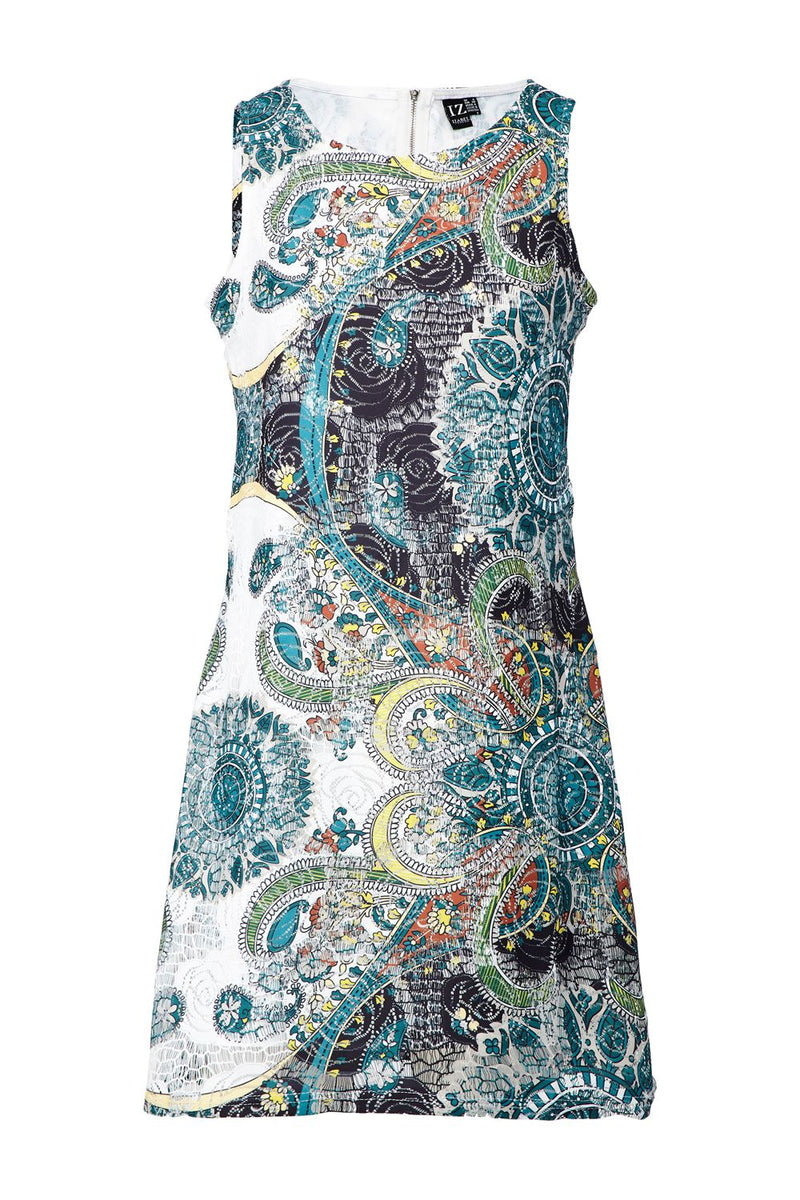 Green | Eastern Print Shift Dress