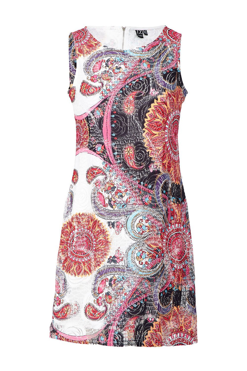 Pink | Eastern Print Shift Dress