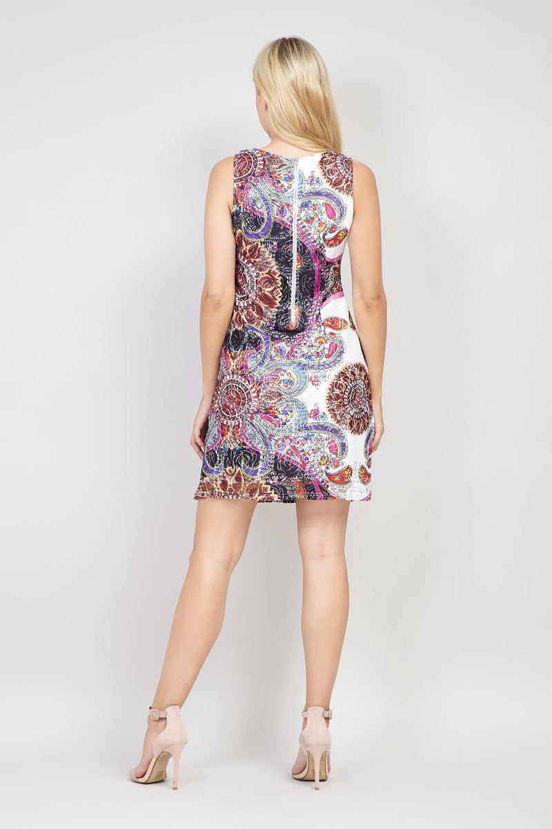 Purple | Eastern Print Shift Dress