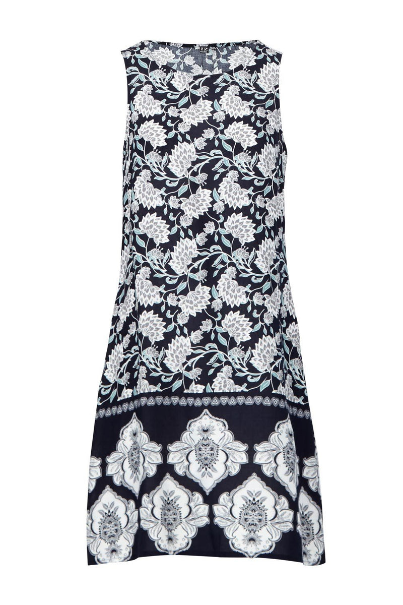 Paisley Print Shift Dress - Izabel London