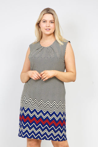 Leaf Print Shift Dress