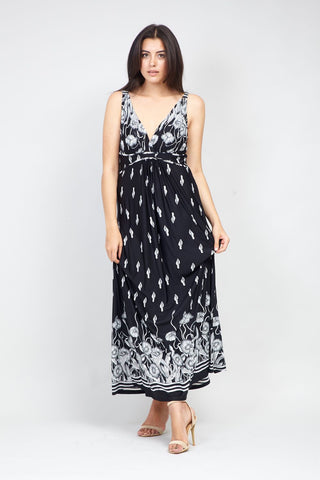 Striped Hanky Hem Maxi Dress