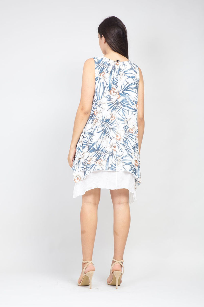 | Curve Floral Layered Hem Tunic Dress | Izabel London