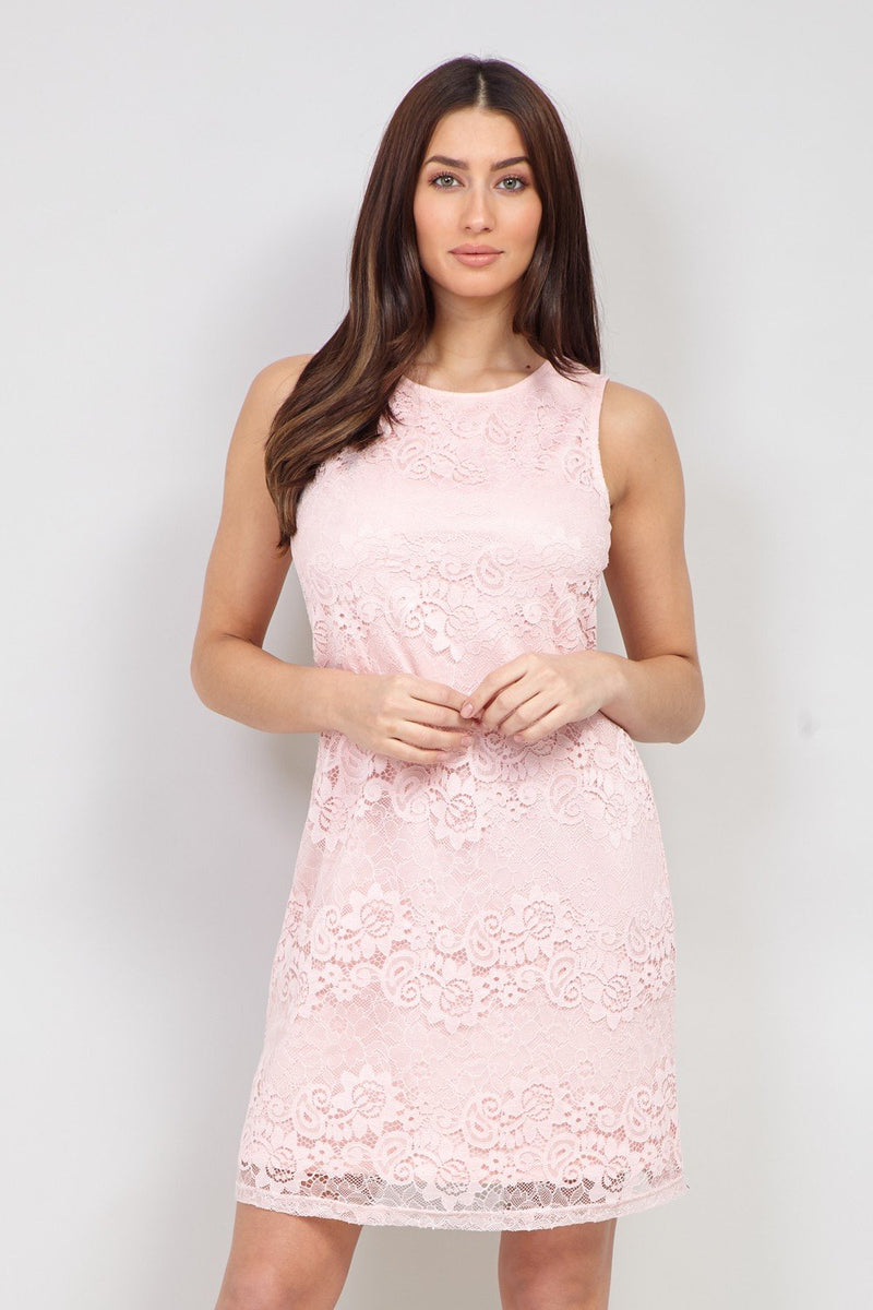 Pink | Lace Bodycon Dress