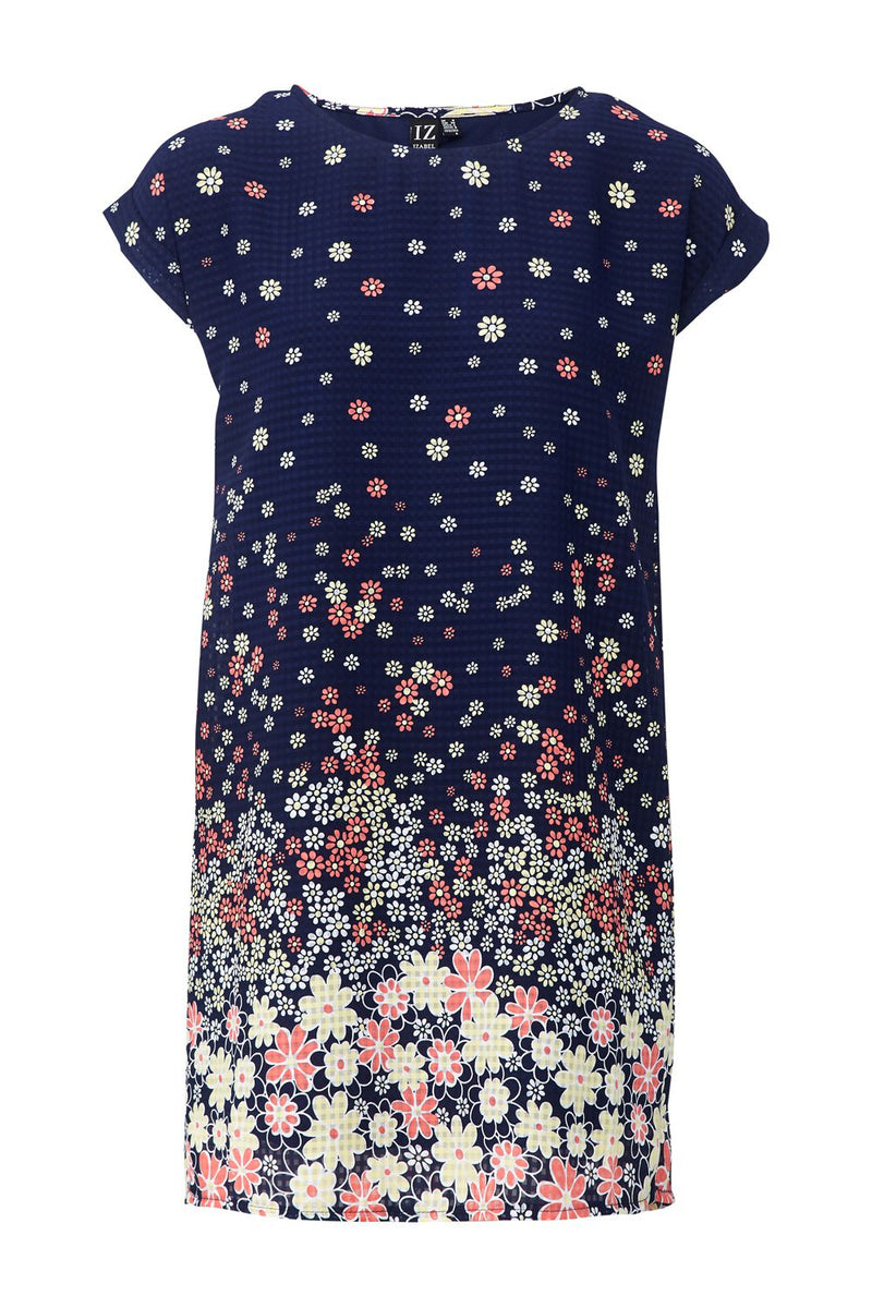 | Daisy Print Shift Dress | Izabel London