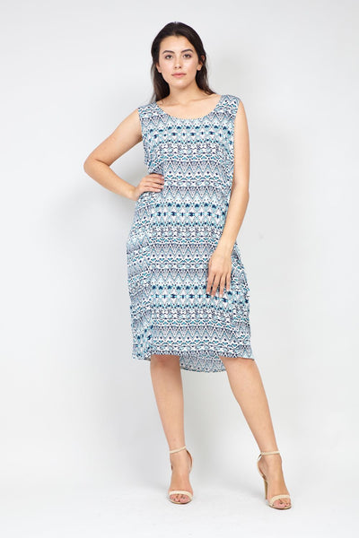Curve Eastern Print Tunic Dress - Izabel London