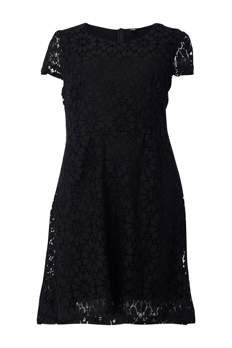 | Curve Lace Overlay Tea Dress | Izabel London