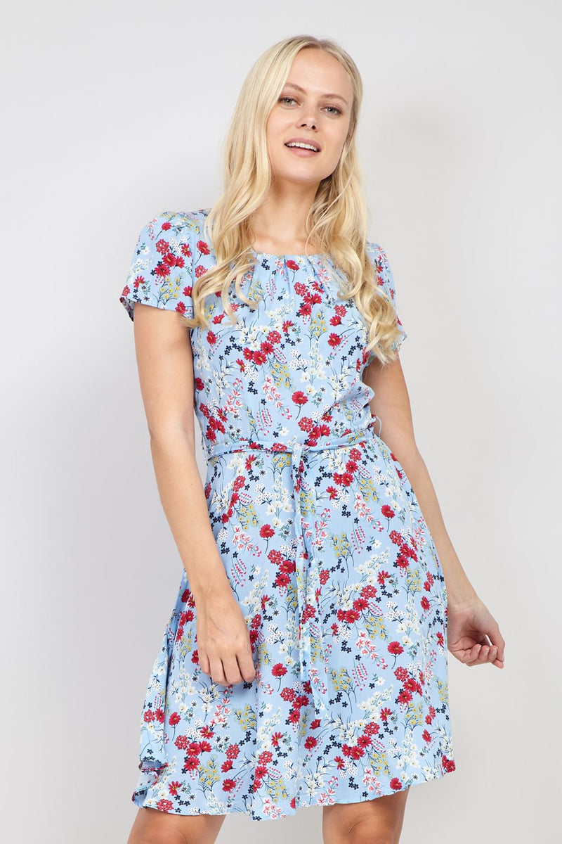Blue | Ditsy Floral Tea Dress