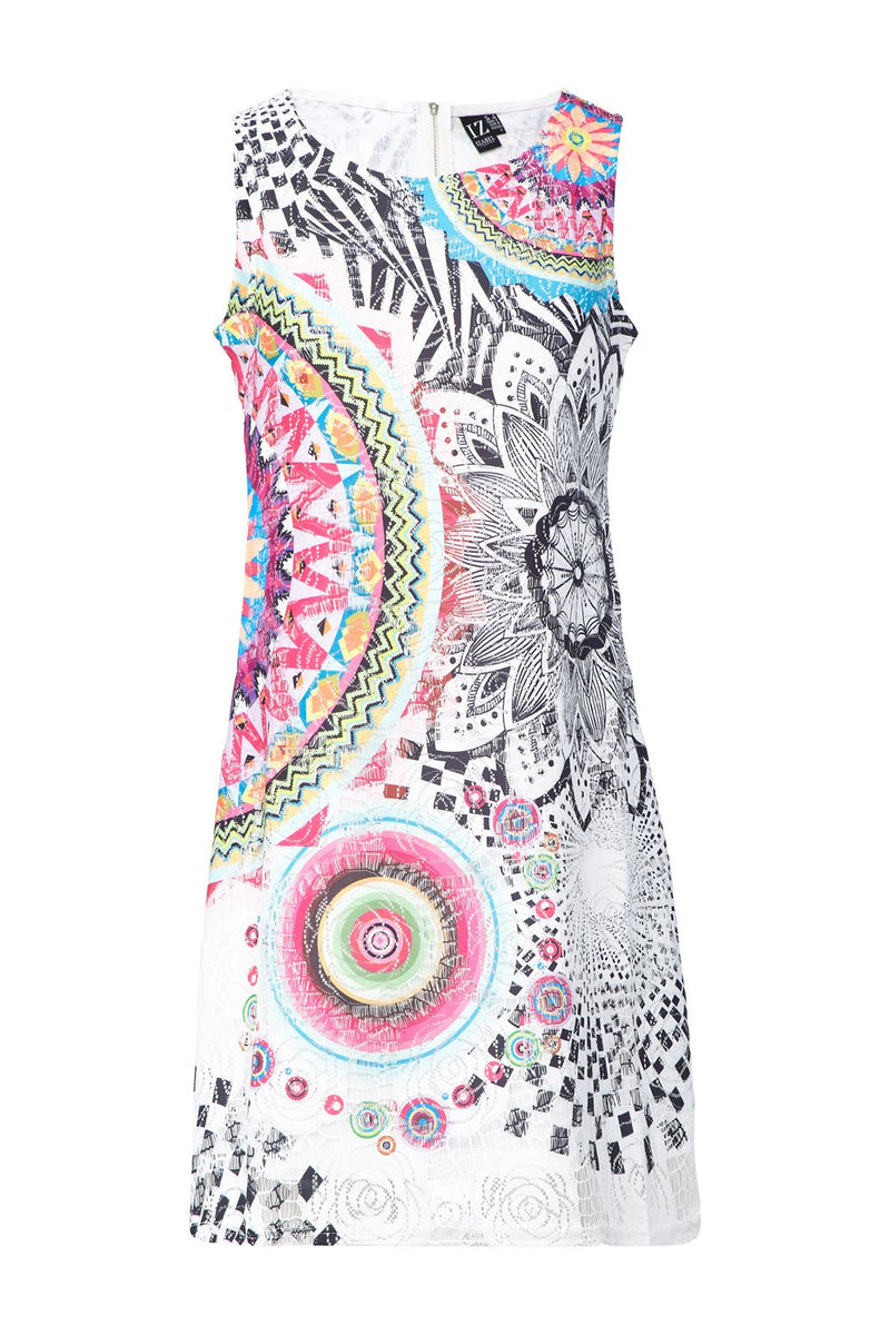 Pink | Mosaic Shift Dress