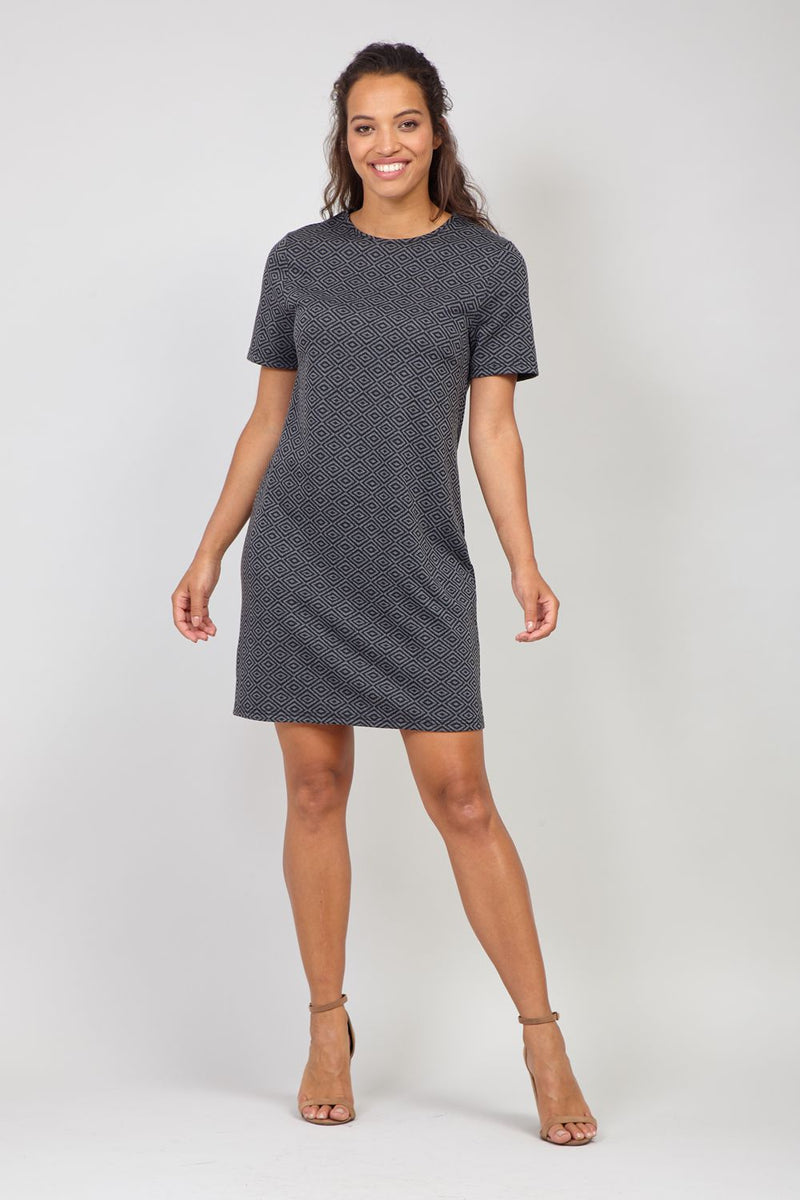 Grey | Geo Print Shift Dress
