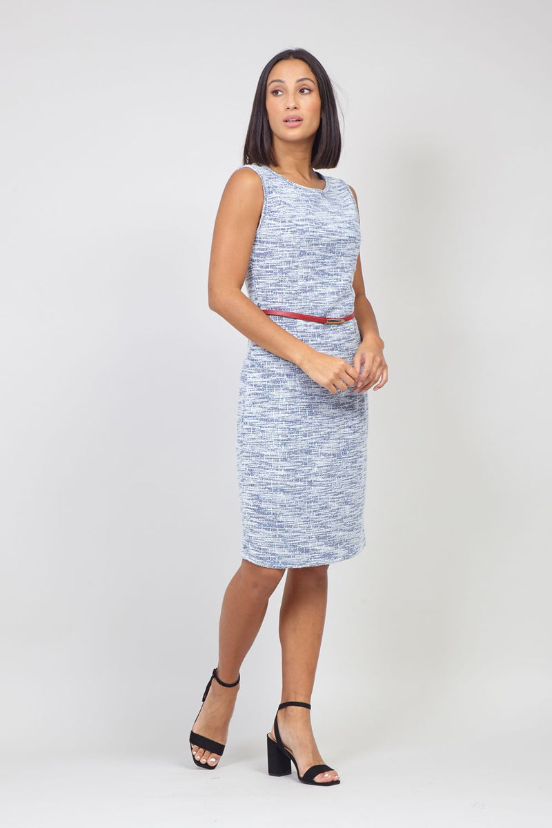 Blue | Tailored Shift Dress