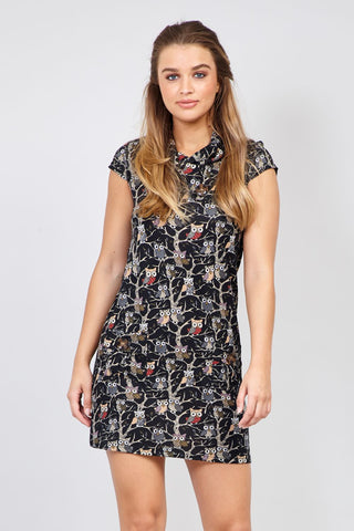 Curve Geo Print Shift Dress
