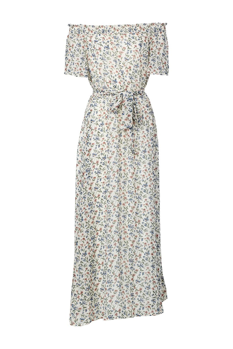 | Ditsy Floral Bardot Maxi Dress | Izabel London