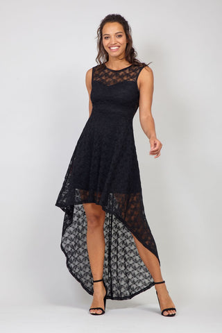Lace Skater Evening Dress