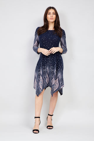 Embellished Neck Shift Going Out Dress