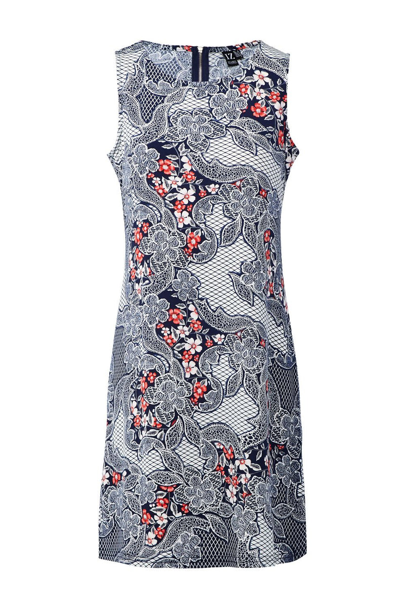 Navy | Floral Shift Dress