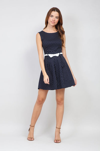 | Polka Dot Skater Dress | Izabel London
