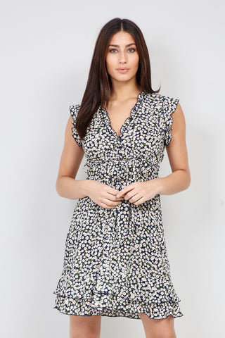 Polka Dot High Neck Skater Dress