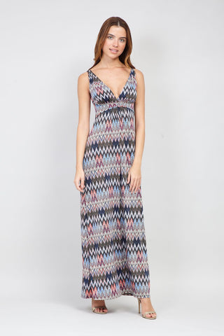Tribal Split Side Maxi Dress