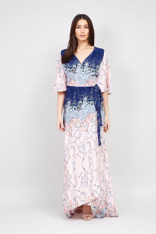 Embellished Lace Top Maxi Dress