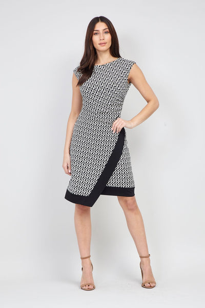 Geo Print Bodycon Dress - Izabel London
