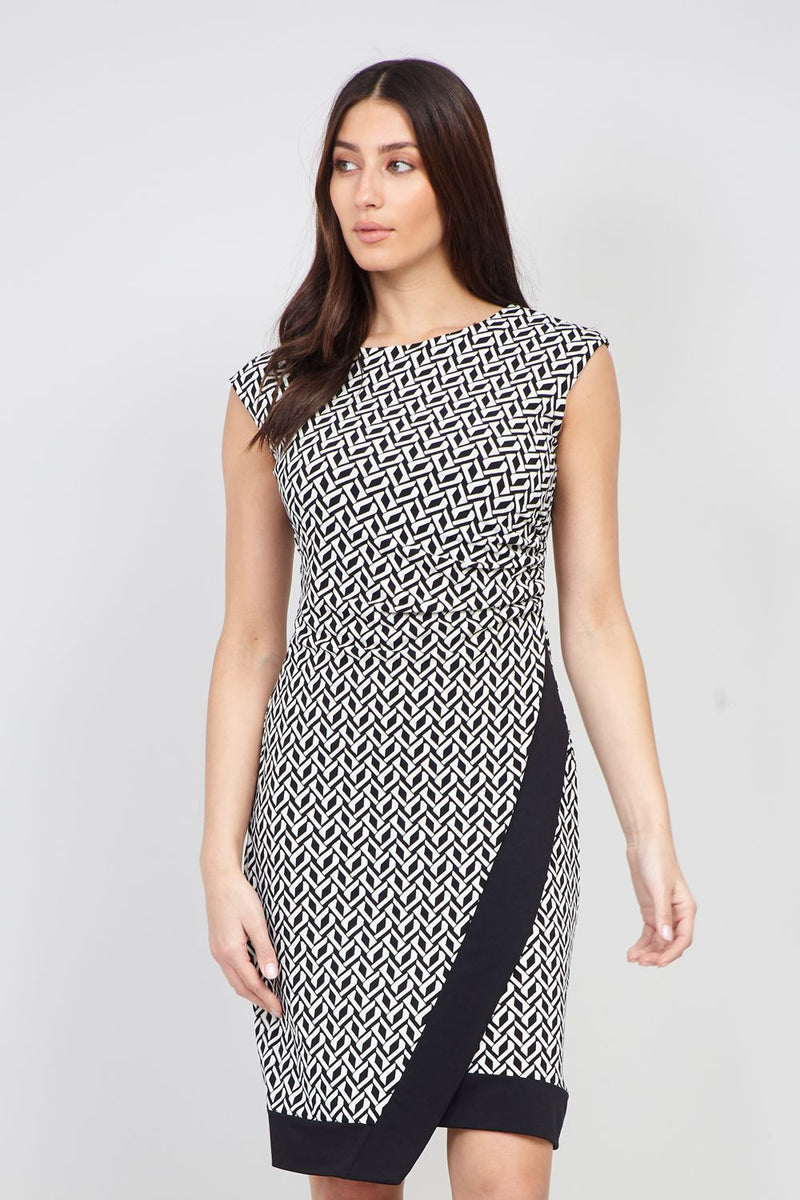 Black And White | Geo Print Bodycon Dress