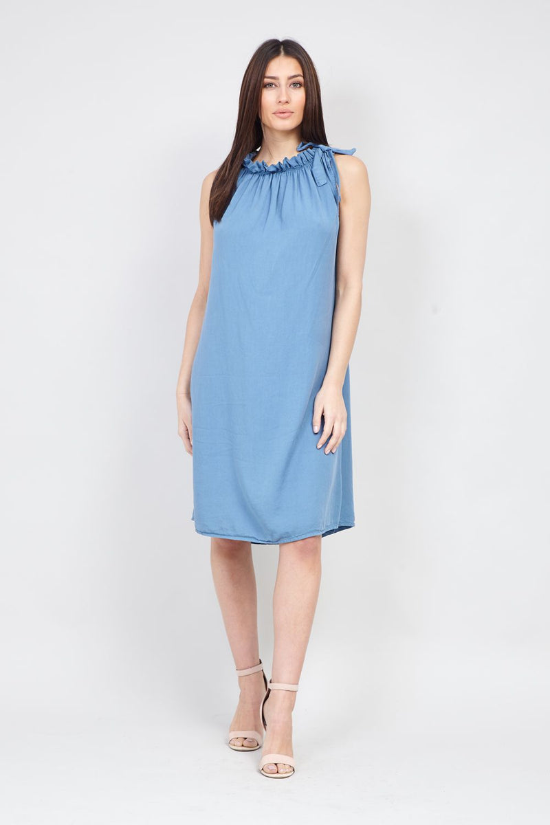 ae856f99ae9 Ruffle Neck Shift Dress – Izabel London