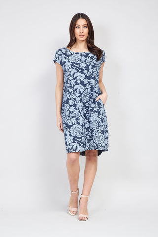 Butterfly Print Lace Shift Dress