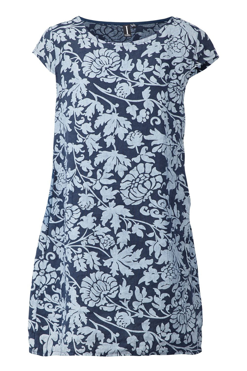 Navy | Paisley Print Shift Dress