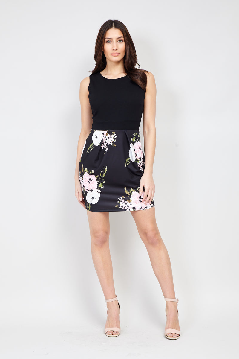 | Floral Print Sleeveless Dress | Izabel London