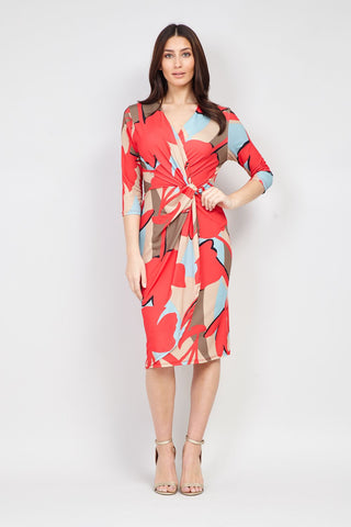 Patchwork Print Midi Dress