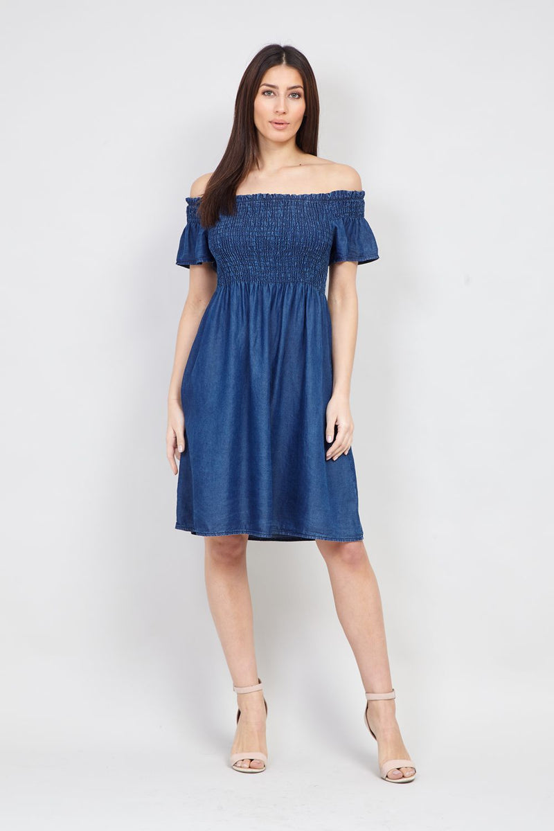 Blue | Off The Shoulder Summer Dress