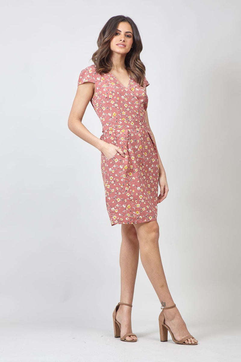 Pink | Floral Dress With Pockets