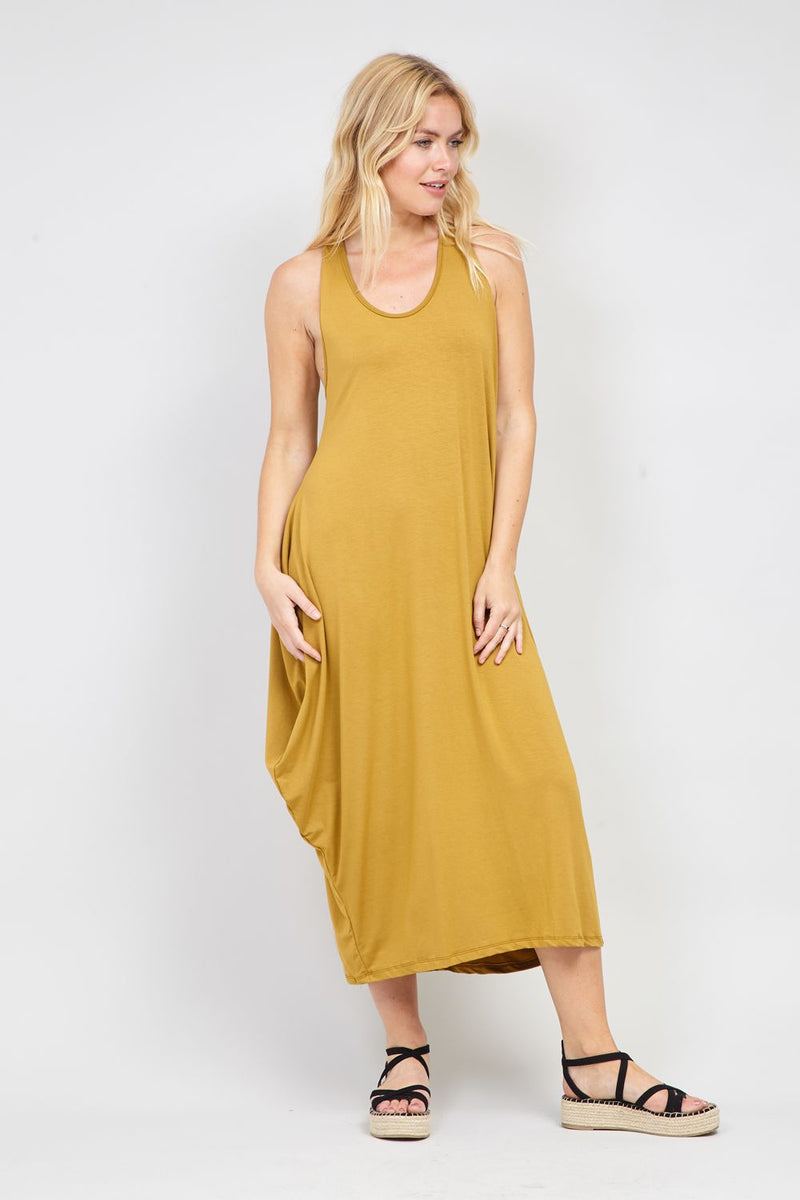 Yellow | Waterfall Maxi Dress | Izabel London