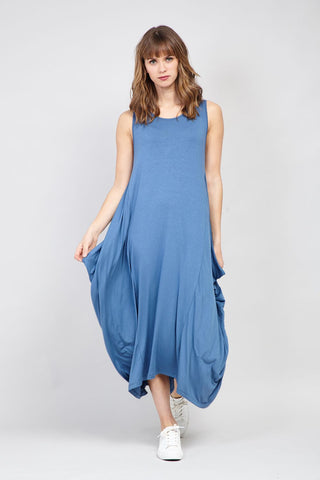 Chevron Layered Hem Dress