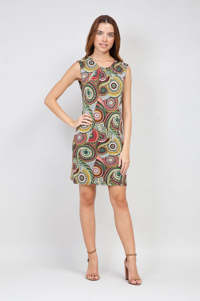 Kaleidoscope Print Shift Dress - Izabel London