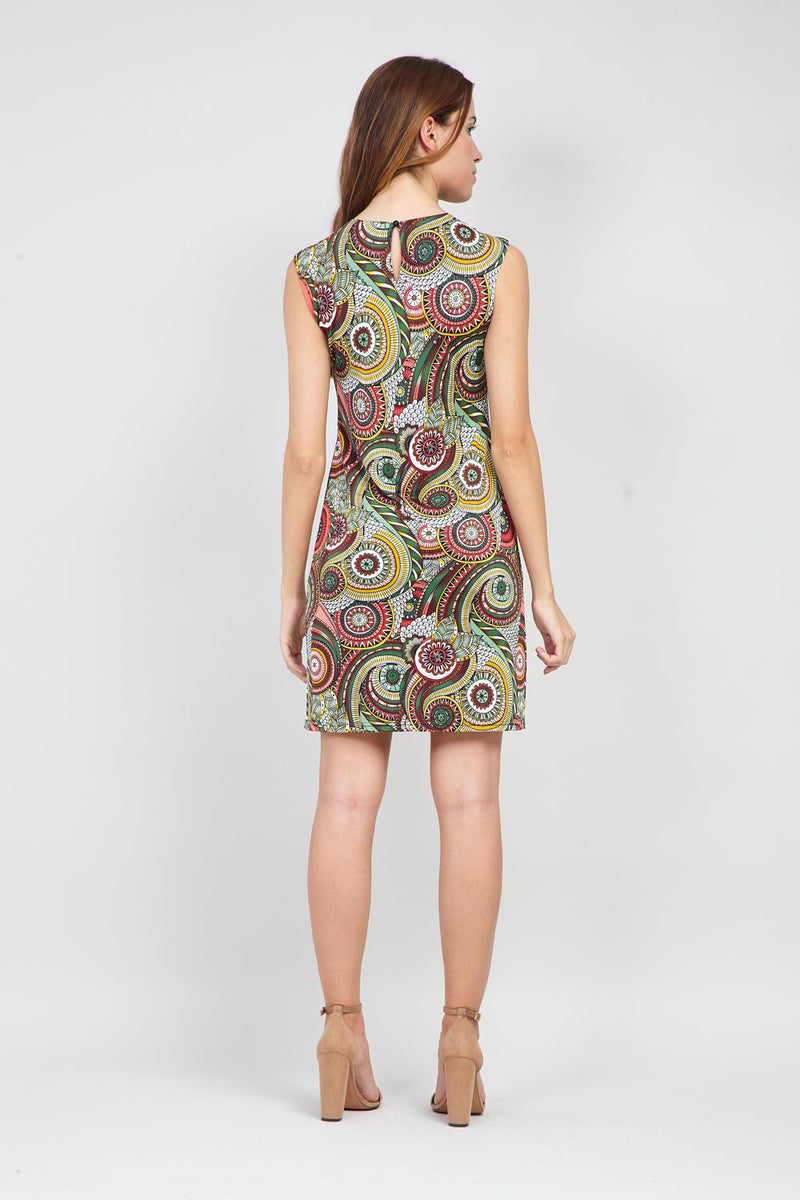 Green | Kaleidoscope Print Shift Dress