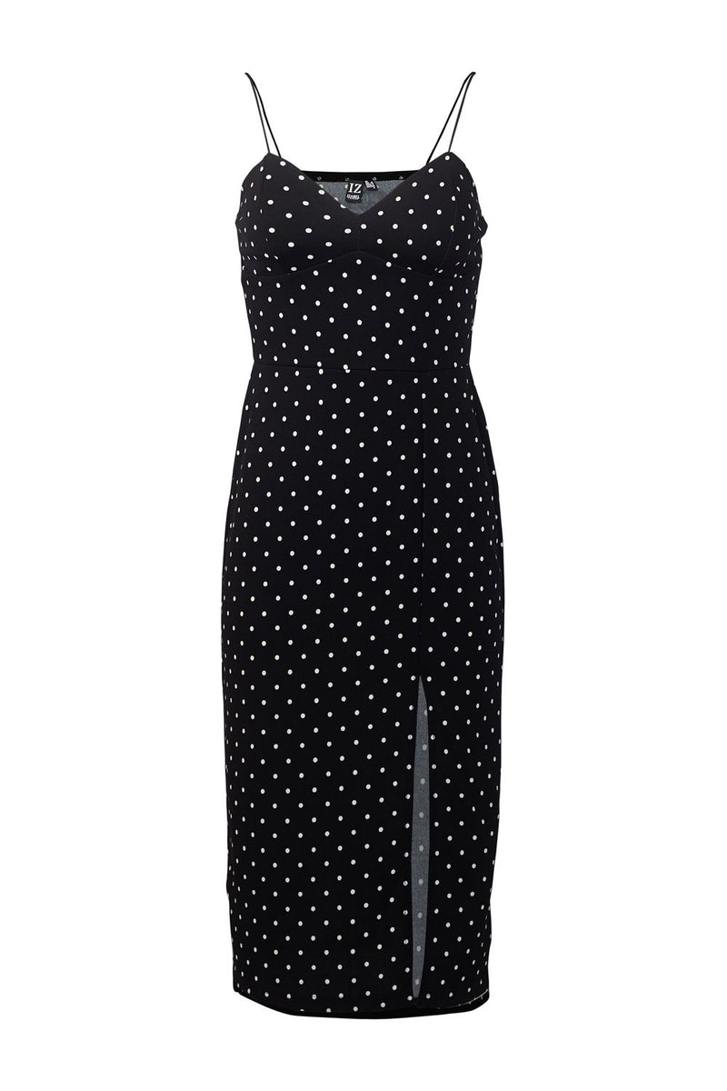 Black | Polka Dot Bodycon Dress