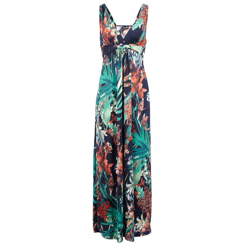 Navy | Tropical Print Dress