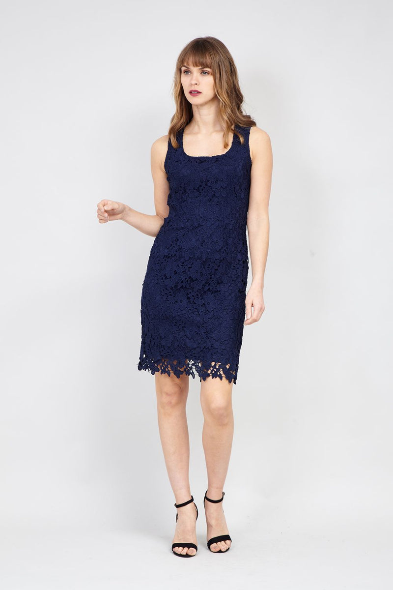 Navy | Lace Bodycon Dress