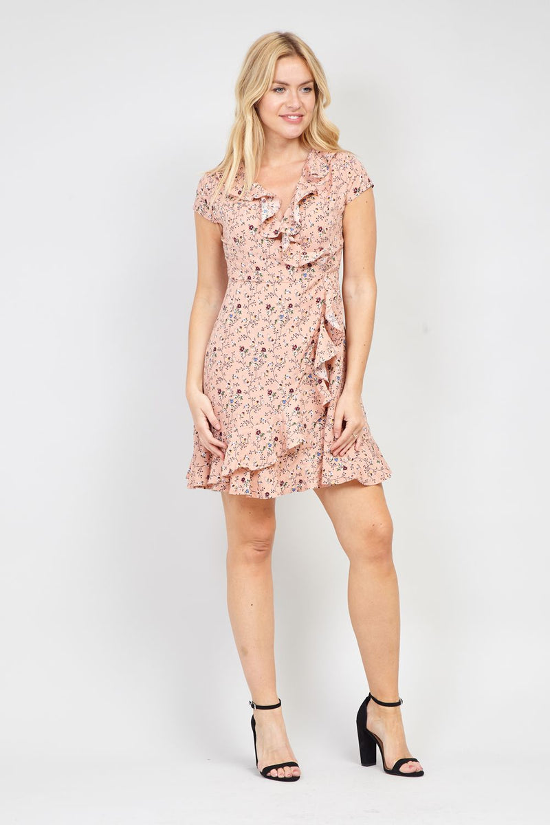 63e4c9afa5760 Floral Print Wrap Dress – Izabel London