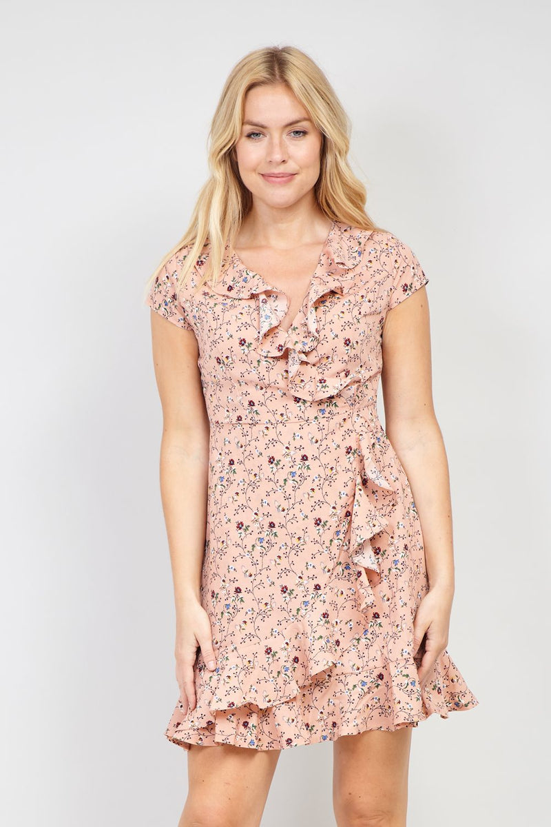a72c4def56690 Floral Print Wrap Dress - Izabel London