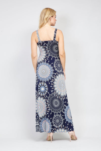 Kaleidoscope Empire Maxi Dress - Izabel London