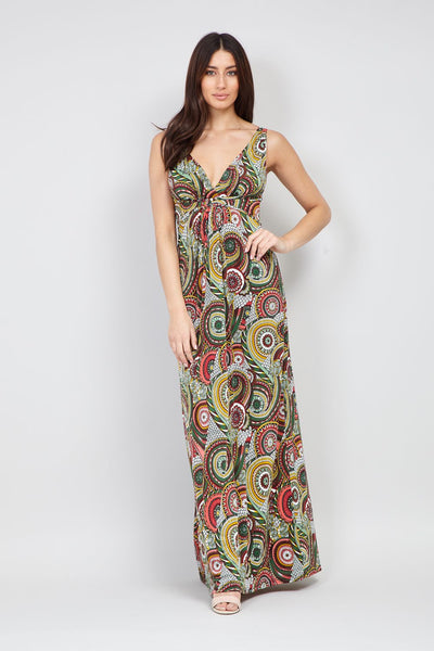 Kaleidoscope Print Maxi Dress - Izabel London