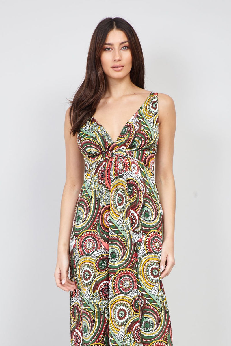 | Kaleidoscope Print Maxi Dress | Izabel London