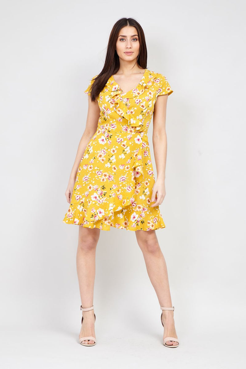 f06e014487b45 Ditsy Floral Wrap Dress - Izabel London